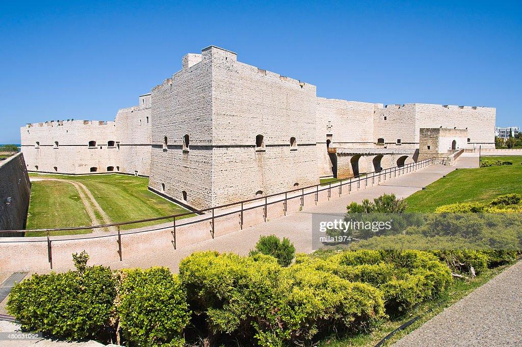 城の Barletta ます。Puglia ます。イタリアます。 : ストックフォト