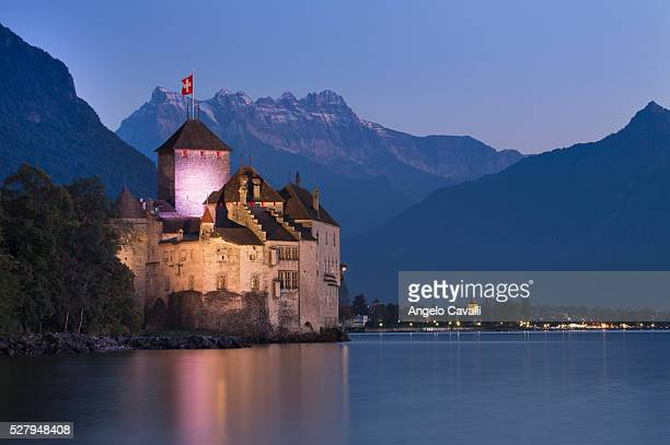 Castle of Chillon, near Montreux, Canton Vaud, Switzerland