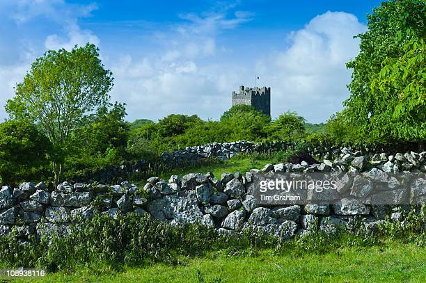 Castle of Dysert O'Dea 15th Century tower house near Corofin in County Clare West of Ireland
