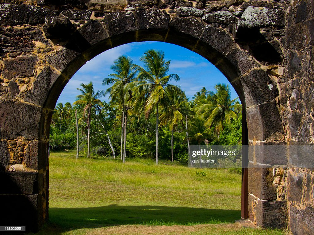 Castle of ruins stone arch : Stock Photo
