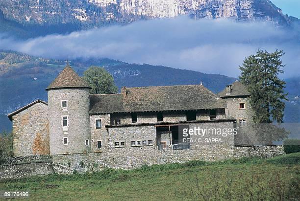 Castle on a landscape Bayard Castle Pontcharra RhoneAlpes France