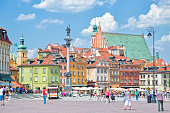 Castle Square and King Zygmunt Column in Warsaw