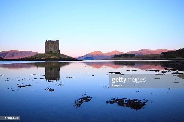 Castle Stalker, Loch Linnhe, Scotland. Idyllic still morning.