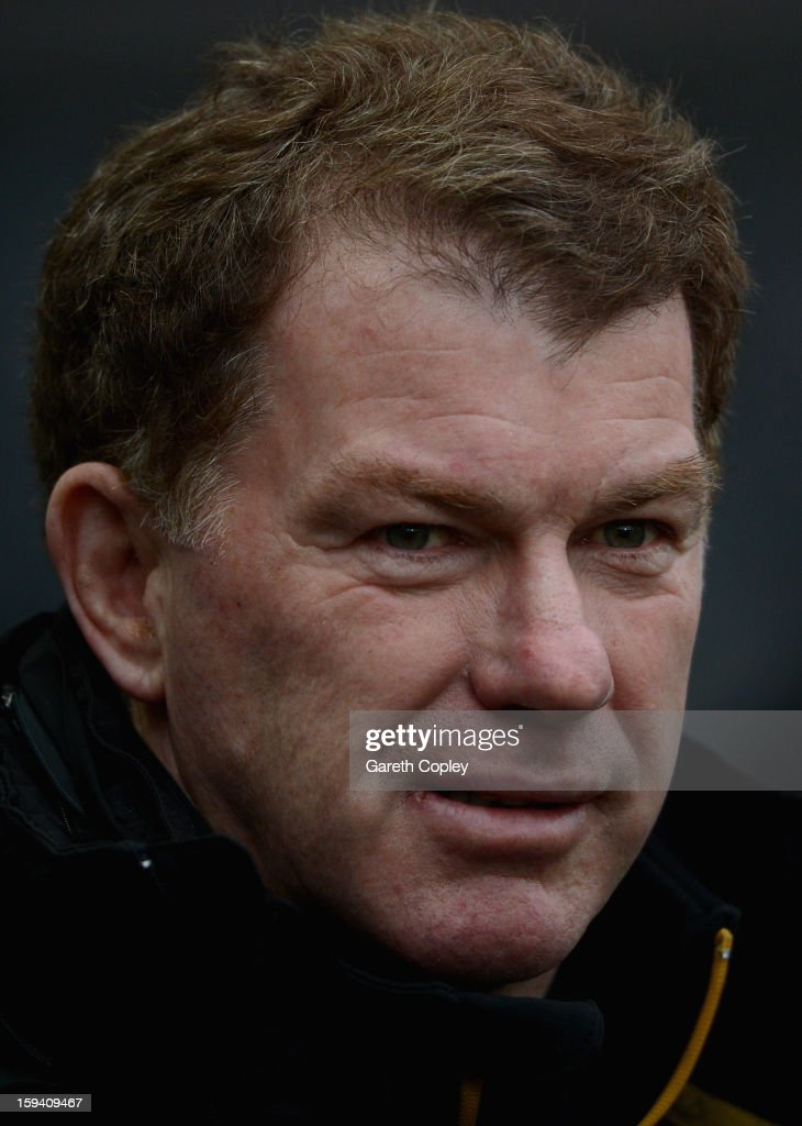 Castleford head coach Ian Millward during a pre-season friendly match between Hull FC and Castleford Tigers at The KC Stadium on January 13, 2013 in Hull, England.