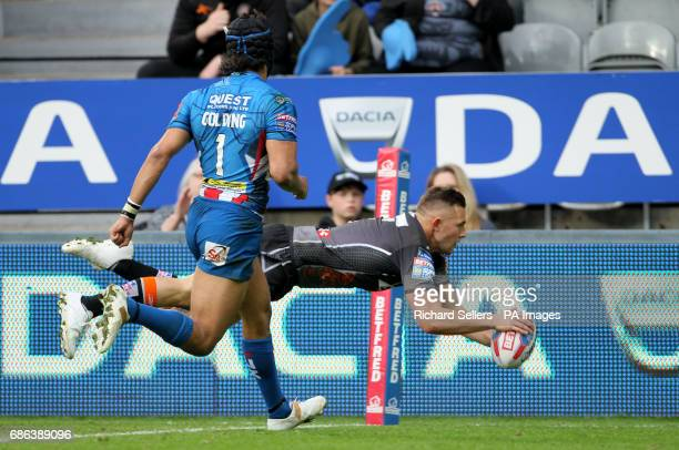 Castleford Tigers' Greg Eden scores a try during day two of the Betfred Super League Magic Weekend at St James' Park Newcastle