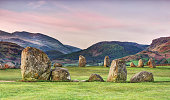 The stone circle at Castlerigg (alt. Keswick Carles, Carles, Carsles or Castle-rig) is situated near Keswick in Cumbria, North West England. One of around 1,300 stone circles in the British Isles and