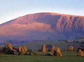 """Castlerigg stone circle, near Keswick in the English Lake District, in evening light"""