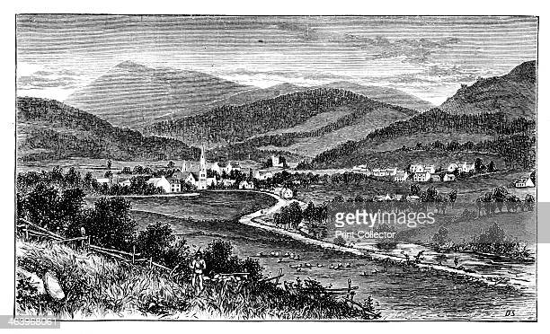 Castleton of Braemar Scotland c1888 Illustration from The Life and Times of Queen Victoria Vol II by Robert Wilson