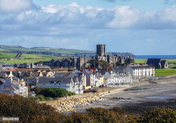 Castletown Isle of Man seaside at low tide