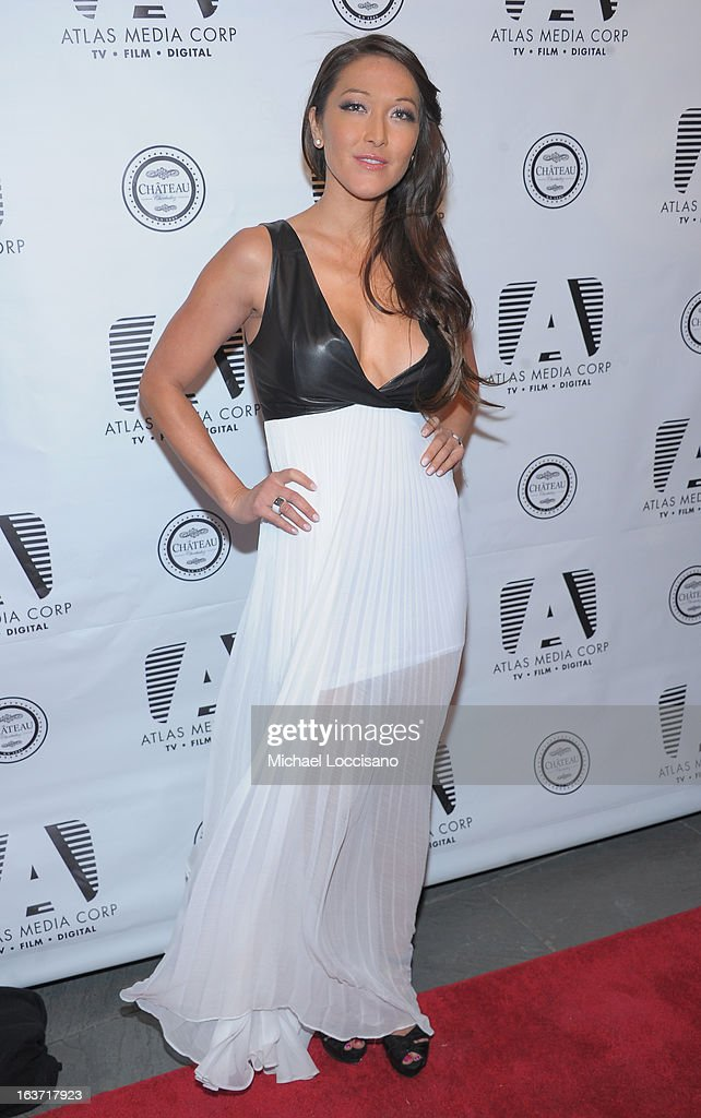 Castmember Candice Kumai attends the 'Playing With Fire' premiere at Chateau Cherbuliez on March 14, 2013 in New York City.