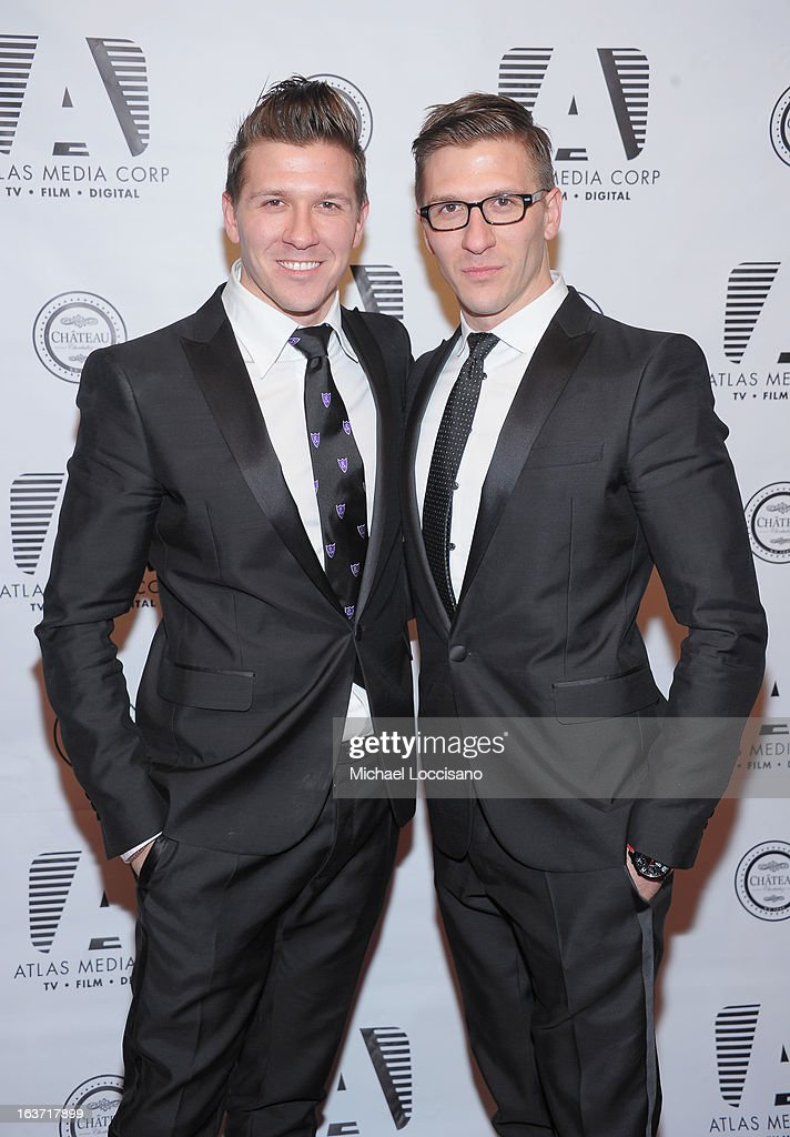 Castmembers Daniel Koch (L) and brother Derek Koch attend the 'Playing With Fire' premiere at Chateau Cherbuliez on March 14, 2013 in New York City.