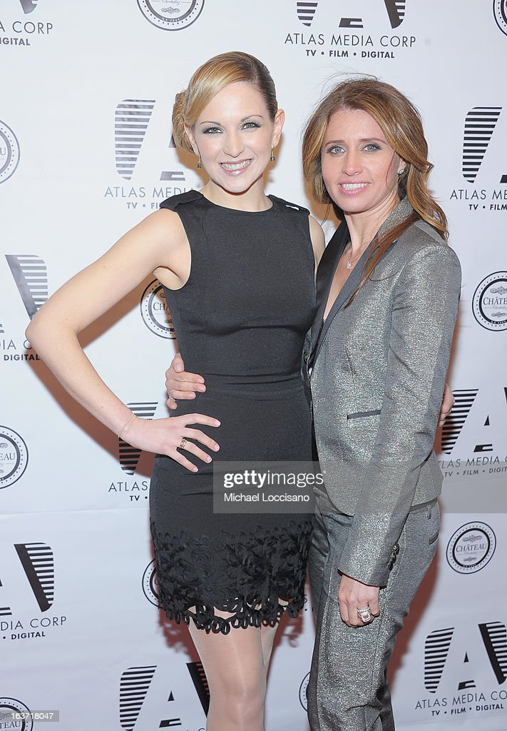 Castmembers Julie Elkind (L) and Anna Boiardi attend the 'Playing With Fire' premiere at Chateau Cherbuliez on March 14, 2013 in New York City.