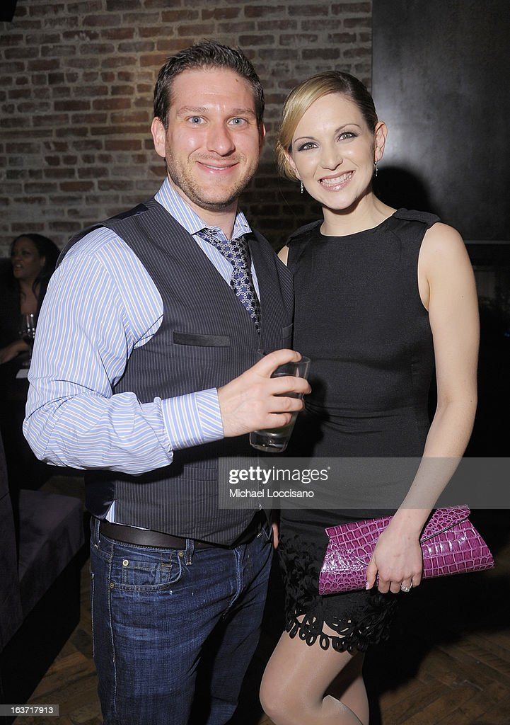 Castmembers Michael Ferraro and Julie Elkind attend the 'Playing With Fire' premiere after party at Chateau Cherbuliez on March 14, 2013 in New York City.