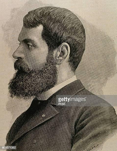 Casto Plasencia y Maestro Spanish painter Portrait Engraving by J Dieguez 19th century