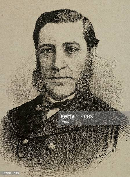Casto Secundino Maria Mendez NuÐez Spanish military naval officer Portrait Engraving by J Diegues La Ilustracion 1890
