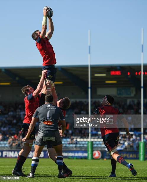 Castres France 15 October 2017 Peter OMahony of Munster takes the ball in a lineout during the European Rugby Champions Cup Pool 4 Round 1 match...
