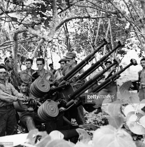 Castro's troops at Playa de Citron after successfully repelling the USbacked invasion of the Bay of Pigs