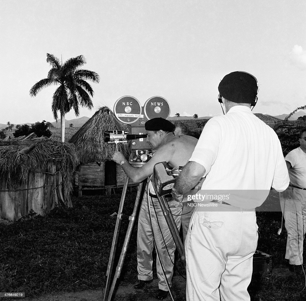 WIDE 60 'Castro's Year of Power' Episode 101 Pictured NBC cameraman Tom Priestly at the home of tobacoo workers in Pinar del Rio during a news...