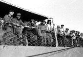 WIDE 60 'Castro's Year of Power' Episode 101 Pictured President Fidel Castro and his army pull into to dock during a news documentary exploring the...