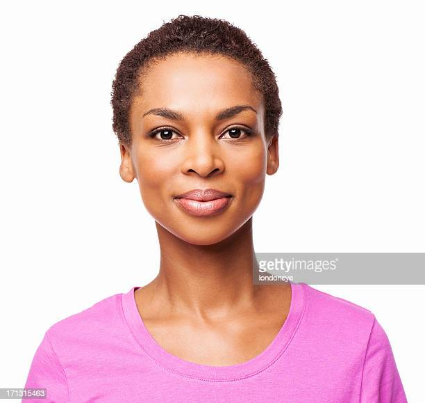 Casual African American Woman Smiling - Isolated