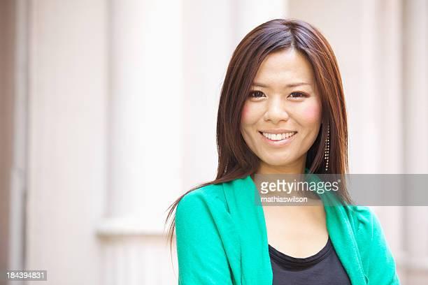Lässig asiatische weibliche Porträt