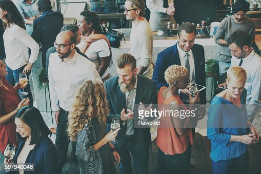 Casual Catering Discussion Meeting Colleagues Concept : Stock Photo