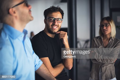 Casual chat at work : Stock Photo