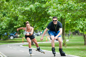 Casual inline skating race