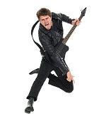 Casual man jumping and playing guitarhttp://www.twodozendesign.info/i/1.png