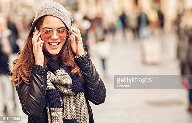 Casual woman talking on mobile phone