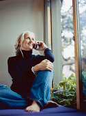 Casual Woman Using Cell Phone