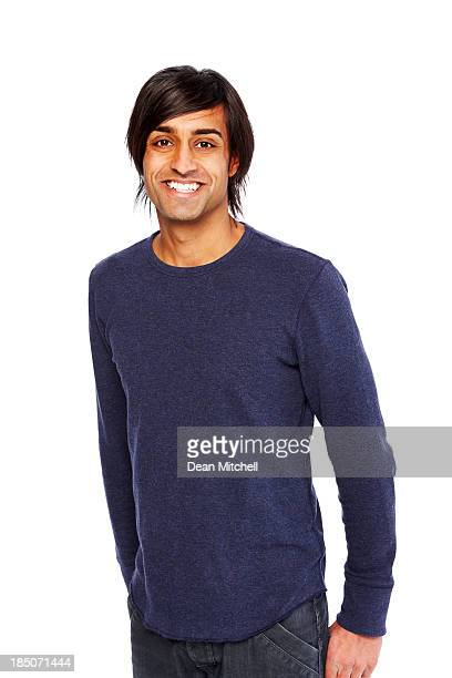 Casual young guy looking happy