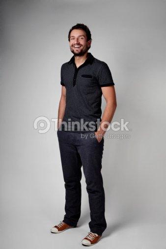 fee29da7658 Casual young man full body portrait   Stock Photo