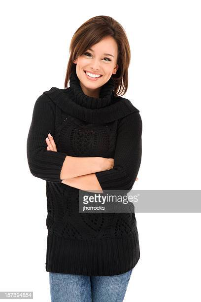 Casual Young Woman with A Friendly Smile