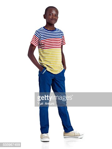 Casually confident about his future : Stock Photo