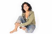 Casul Young Hispanic Woman
