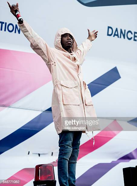 Casyo 'Krept' Johnson of Krept Konan performs onstage during Day 2 of Wireless Festival 2016 at Finsbury Park on July 9 2016 in London England