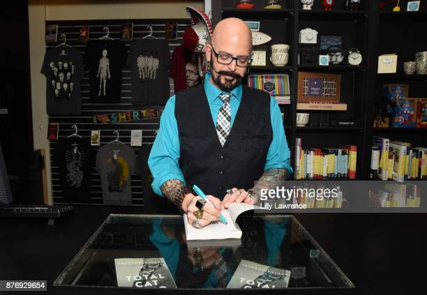 Cat behaviorist and television personality Jackson Galaxy signs his book 'Total Cat Mojo' at Book Soup on November 20 2017 in West Hollywood...