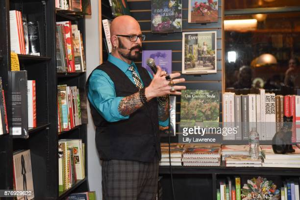 Cat behaviorist and television personality Jackson Galaxy speaks at book signing for his book 'Total Cat Mojo' at Book Soup on November 20 2017 in...