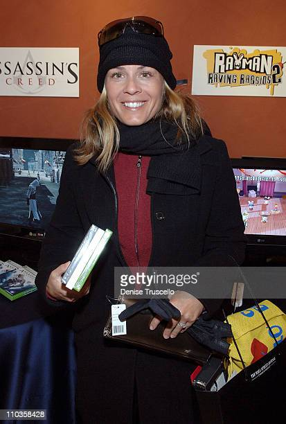 Cat Cora visits the Iconix Gifting for a Cause Suite produced by Backstage Creations on January 20 2008 in Park City Utah