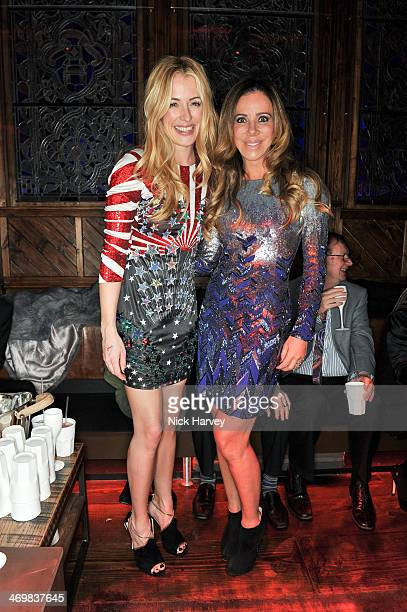 Cat Deeley and Cristiana Arcangeli attend the Matthew Williamson afterparty in association with Cristiana Arcangeli and beautydrink during London...
