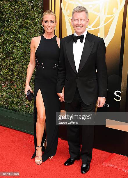 Cat Deeley and husband Patrick Kielty attend the 2015 Creative Arts Emmy Awards at Microsoft Theater on September 12 2015 in Los Angeles California