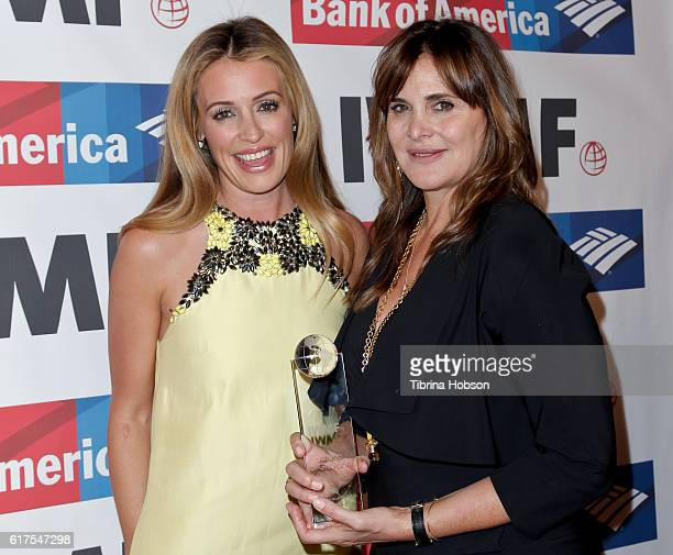 Cat Deeley and Janine di Giovanni attend the International Women's Media Foundation 27th annual Courage In Journalism Awards at the Beverly Wilshire...