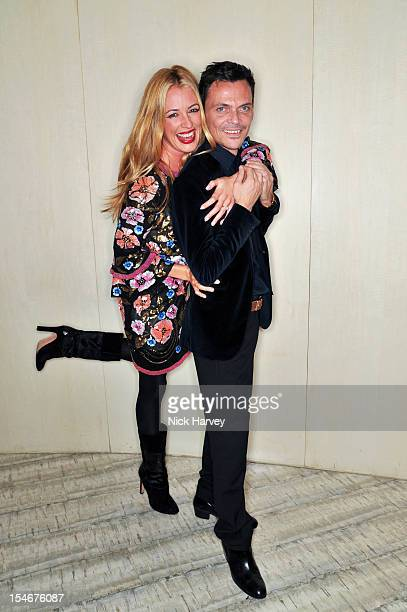 Cat Deeley and Matthew Williamson attends a private screening of Matthew Williamson XV hosted by Nadja Swarovski at Nobu Berkeley on October 24 2012...