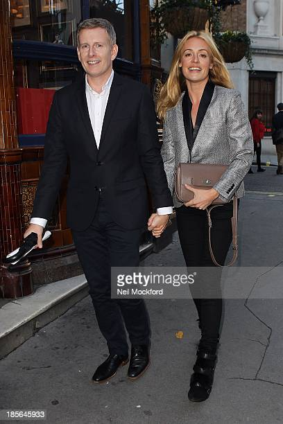 Cat Deeley and Patrick Kielty seen leaving the theatre on October 23 2013 in London England