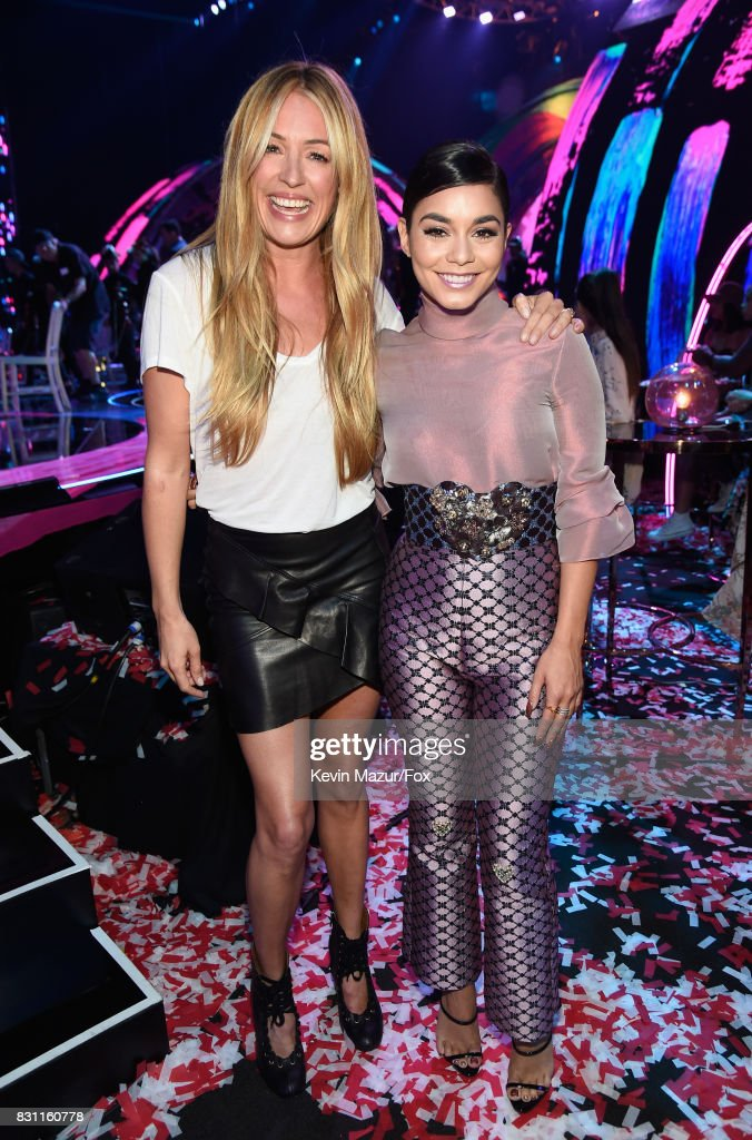 Cat Deeley (L) and Vanessa Hudgens attend Teen Choice Awards 2017 at Galen Center on August 13, 2017 in Los Angeles, California.