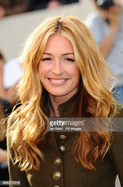 Cat Deeley arrives at the Burberry Fashion show during London Fashion Week LondonPicture date Tuesday September 21 2010