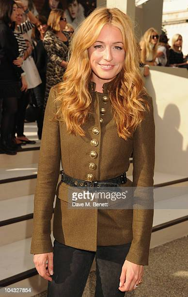 Cat Deeley arrives at the Burberry Prorsum Spring/Summer 2011 fashion show during LFW at Chelsea College of Art and Design on September 21 2010 in...
