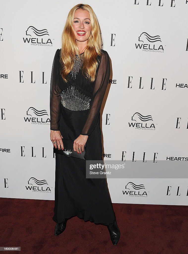 Cat Deeley arrives at the ELLE's 2nd Annual Women In Television Celebratory Dinner at Soho House on January 24, 2013 in West Hollywood, California.