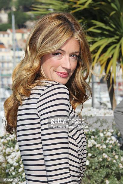 Cat Deeley attends a photocall during MIPTV at Palais des festivals on April 12 2010 in Cannes France